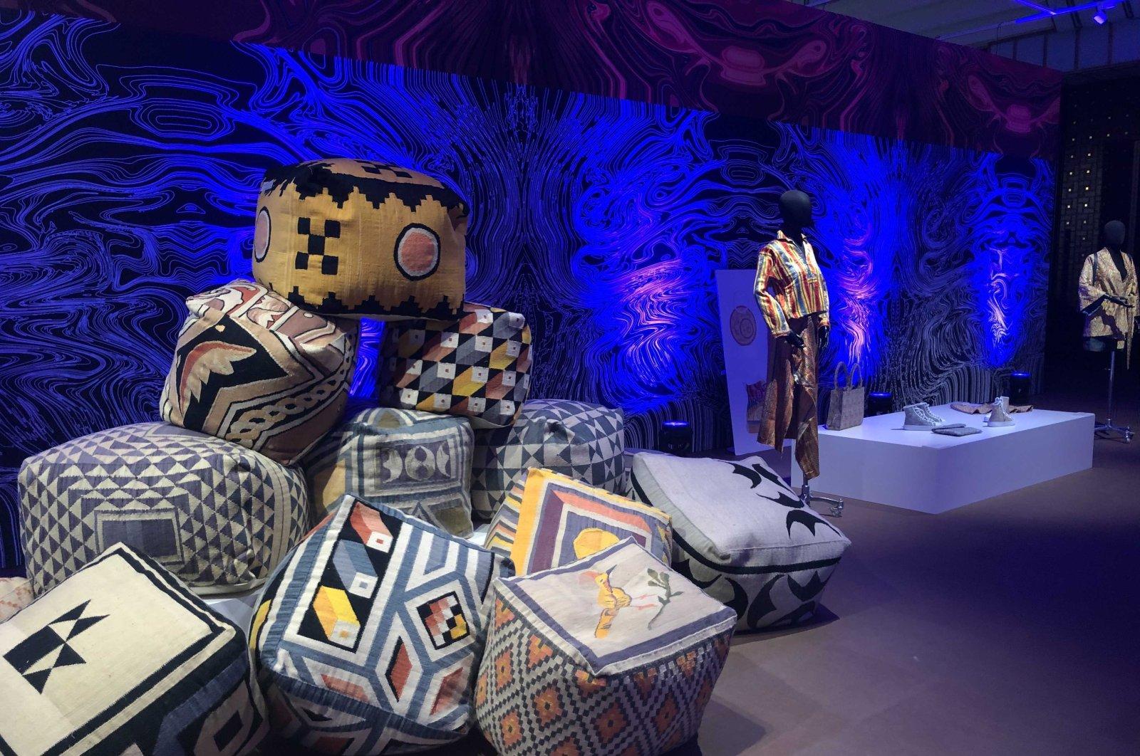 "A view from the  ""Fabrics Atlas Exhibition,"" Ankara, Turkey, June 22, 2021. (Photo by Nur Özkan Erbay)"