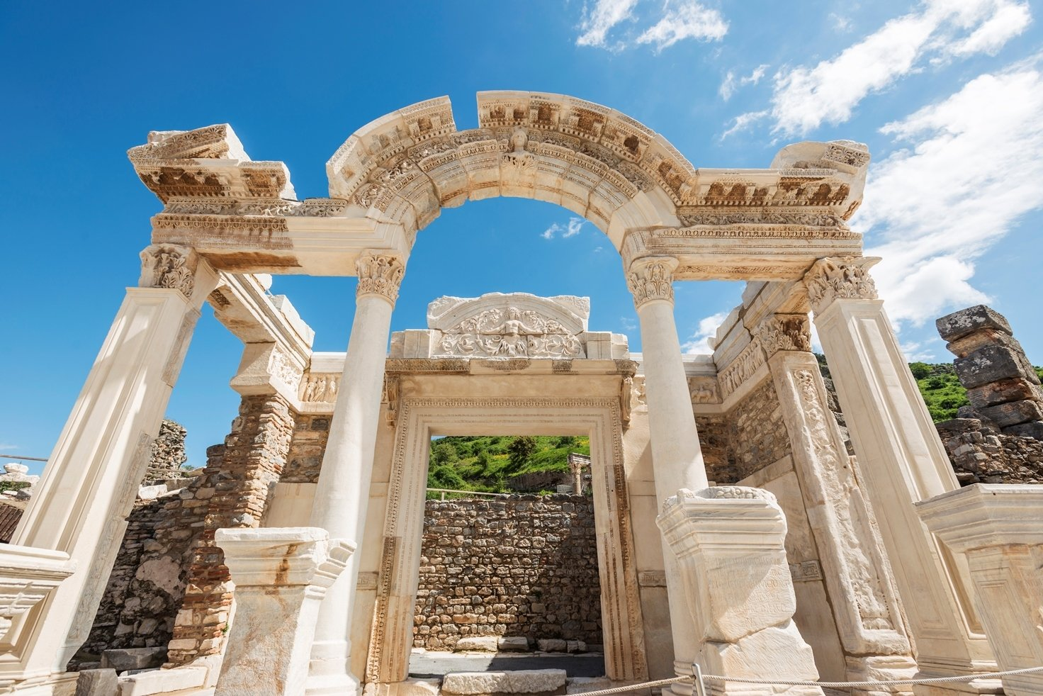 The ancient city of Ephesus has some of the most outstanding architectural examples of the Hellenistic and Roman periods.