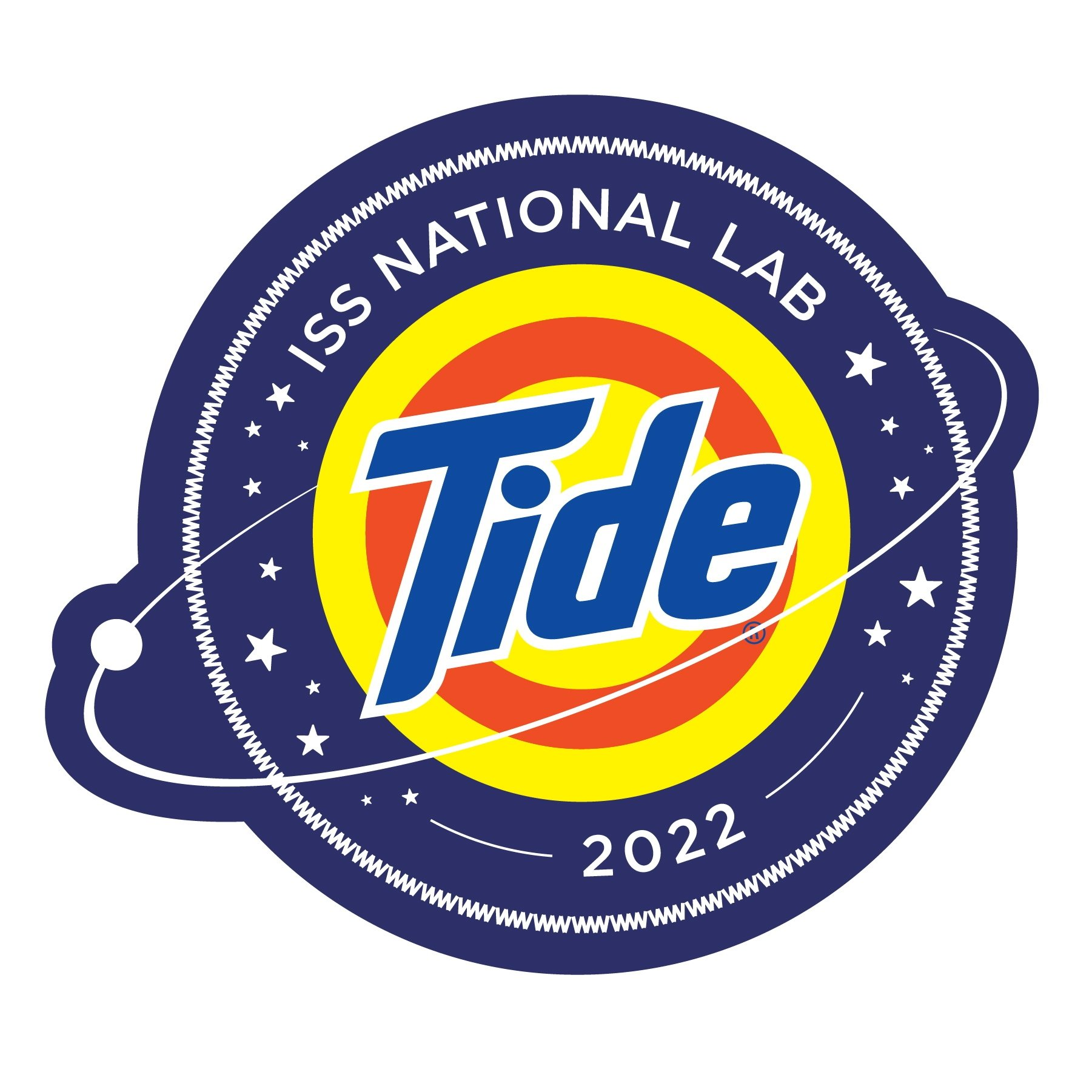 The logo for the NASA Tide detergent that will be tested in space. (Tide via Reuters)