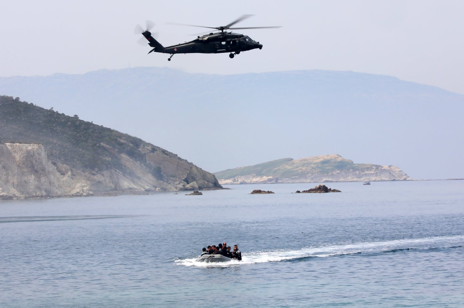 Turkish military units hold a drill in the Aegean Sea, Turkey, June 23, 2021. (AA Photo)