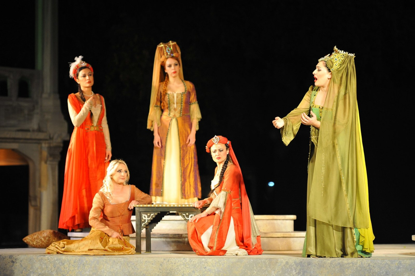 """The IDOB performs the opera """"Abduction from the Seraglio"""" in Istanbul Archaeology Museums, Turkey, June 13, 2017. (Archive Photo)"""