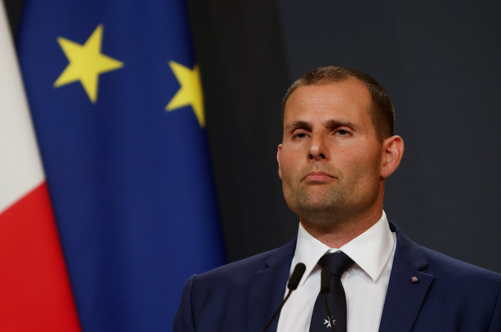 Malta's Prime Minister Robert Abela holds a news conference after local media reported that Malta has been grey-listed by the global anti-money laundering watchdog, the Financial Action Task Force (FATF), in Valletta, Malta, June 23, 2021. (Reuters Photo)