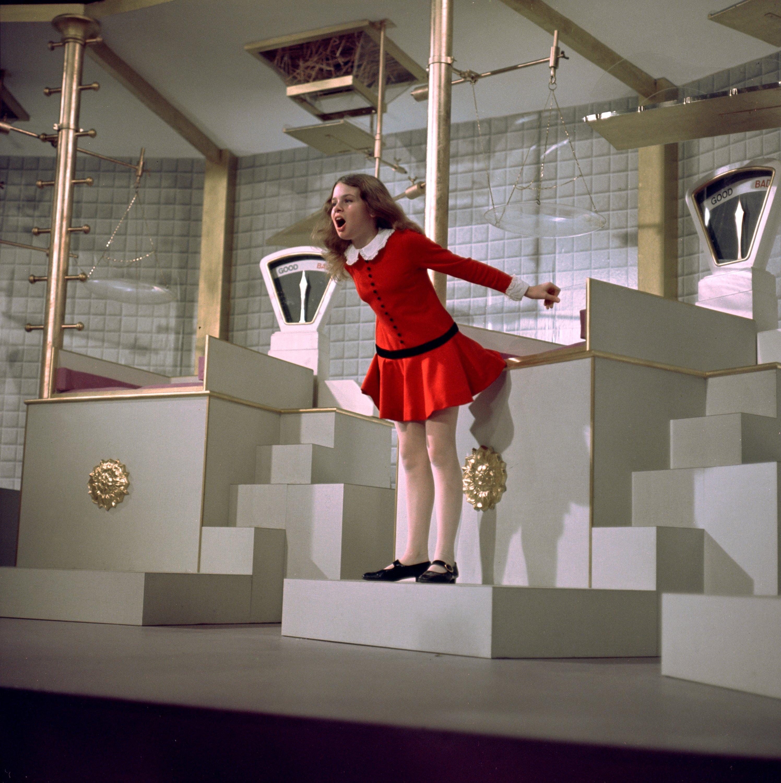 Julie Dawn Cole as Veruca Salt in the 1971 film 'Willy Wonka & the Chocolate Factory.' (Warner Bros. via Reuters)