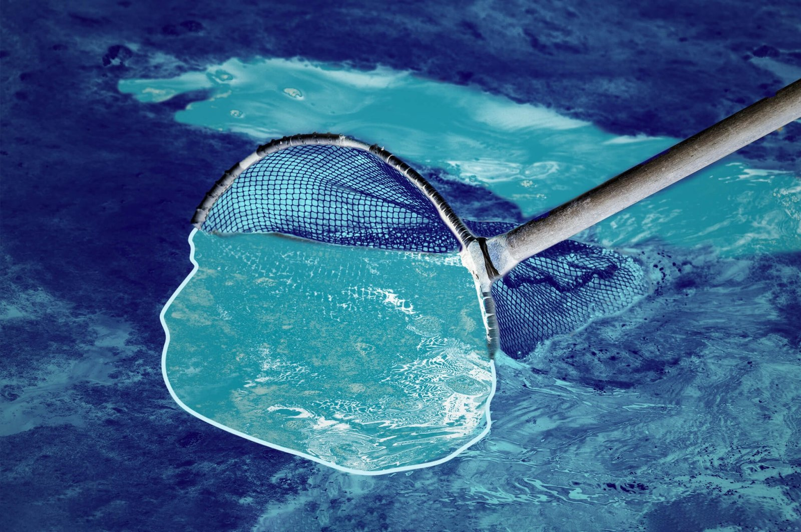 Daily Sabah photo illustration of the cleaning effort against marine mucilage spreading across Turkish seas.