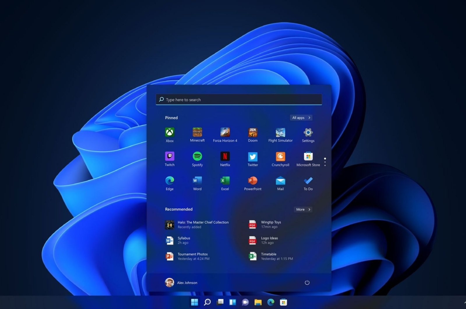 A screengrab of Windows 11 made publicly available by Microsoft. (Credit: Microsoft)