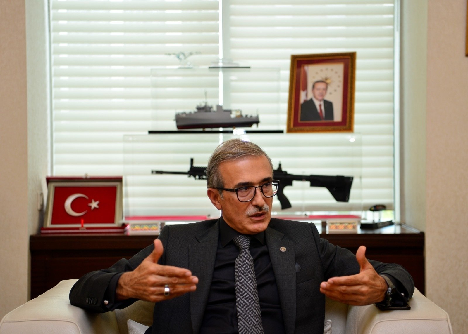 Presidency of Defense Industries (SSB) Chairperson Ismail Demir speaks during an interview with Daily Sabah at the SSB in Ankara, Turkey, June 24, 2021. (Courtesy of the SSB)