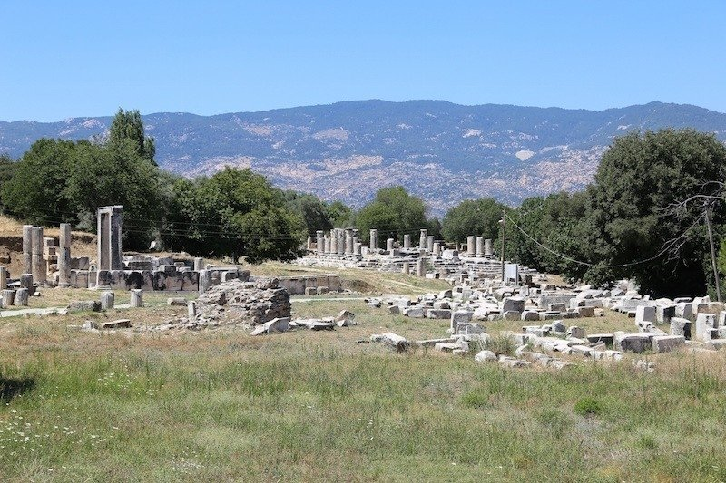 A view from the ancient city of Lagina, Muğla, southwestern Turkey.