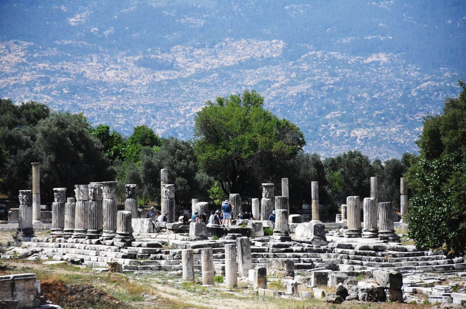 A view from the ancient city of Stratonikeia, Muğla, southwestern Turkey.