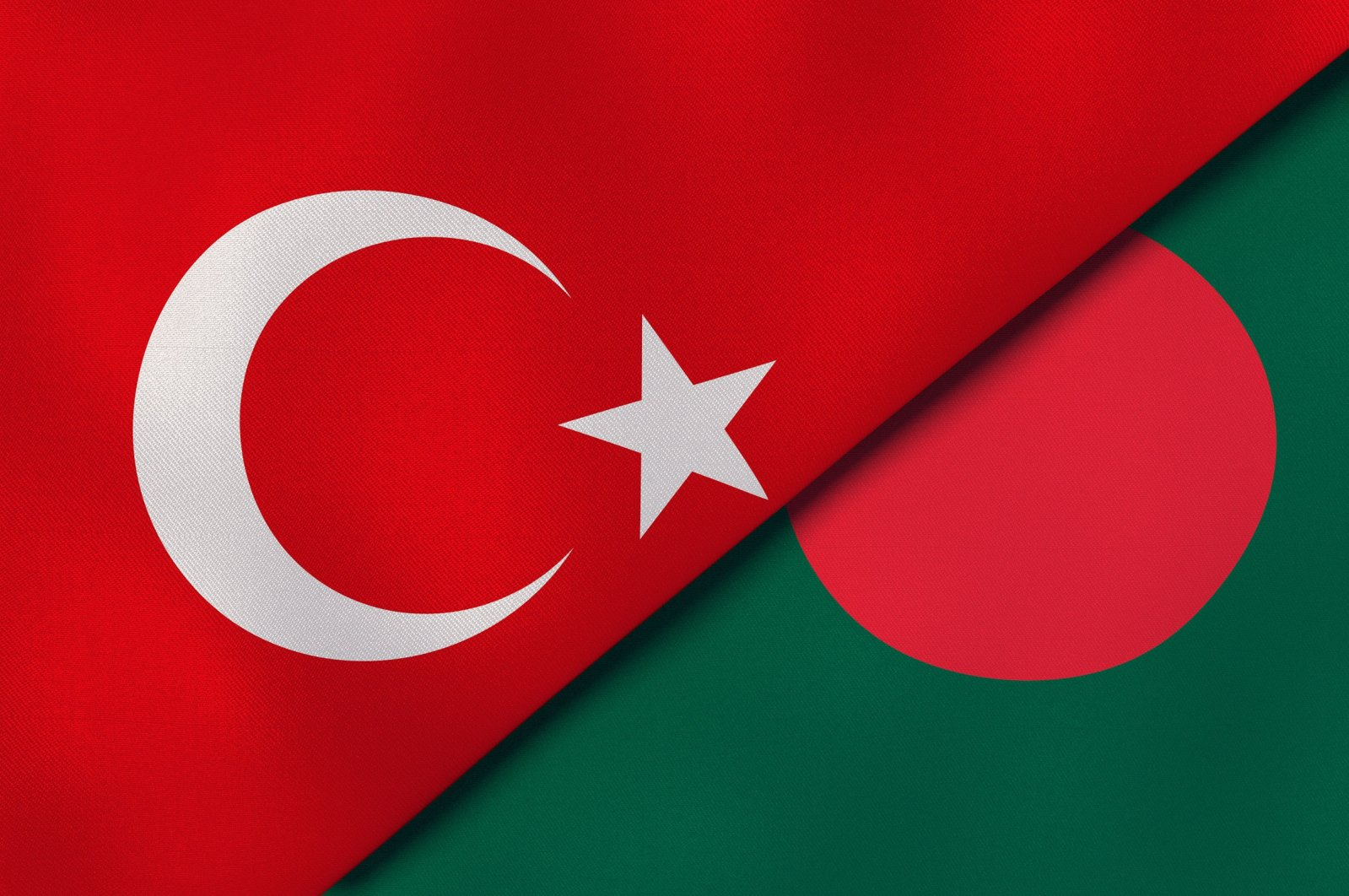 The flags of Turkey (L) and Bangladesh. (Shutterstock)
