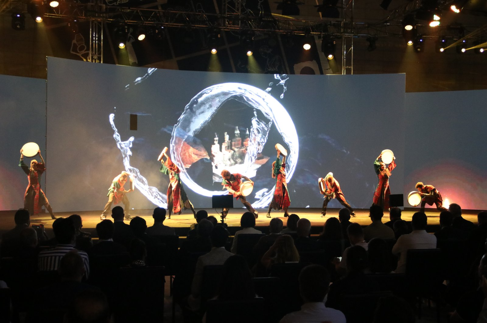 """A group of dancers perform during the launching ceremony of the tourism brand """"Mesopotamia,"""" Şanlıurfa, southeastern Turkey, June 28, 2021. (AA Photo)"""