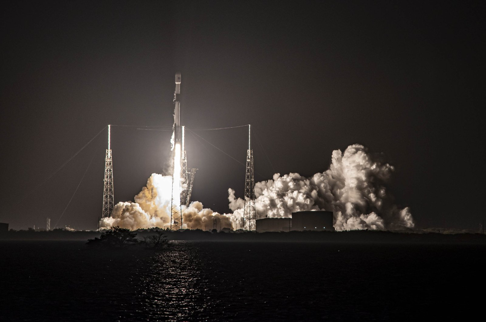 Turkey's new satellite Türksat 5A, carried by a SpaceX Falcon 9 rocket, launches from Cape Canaveral Space Force Station, in Cape Canaveral, Florida, U.S., Jan. 7, 2020. (Reuters Photo)
