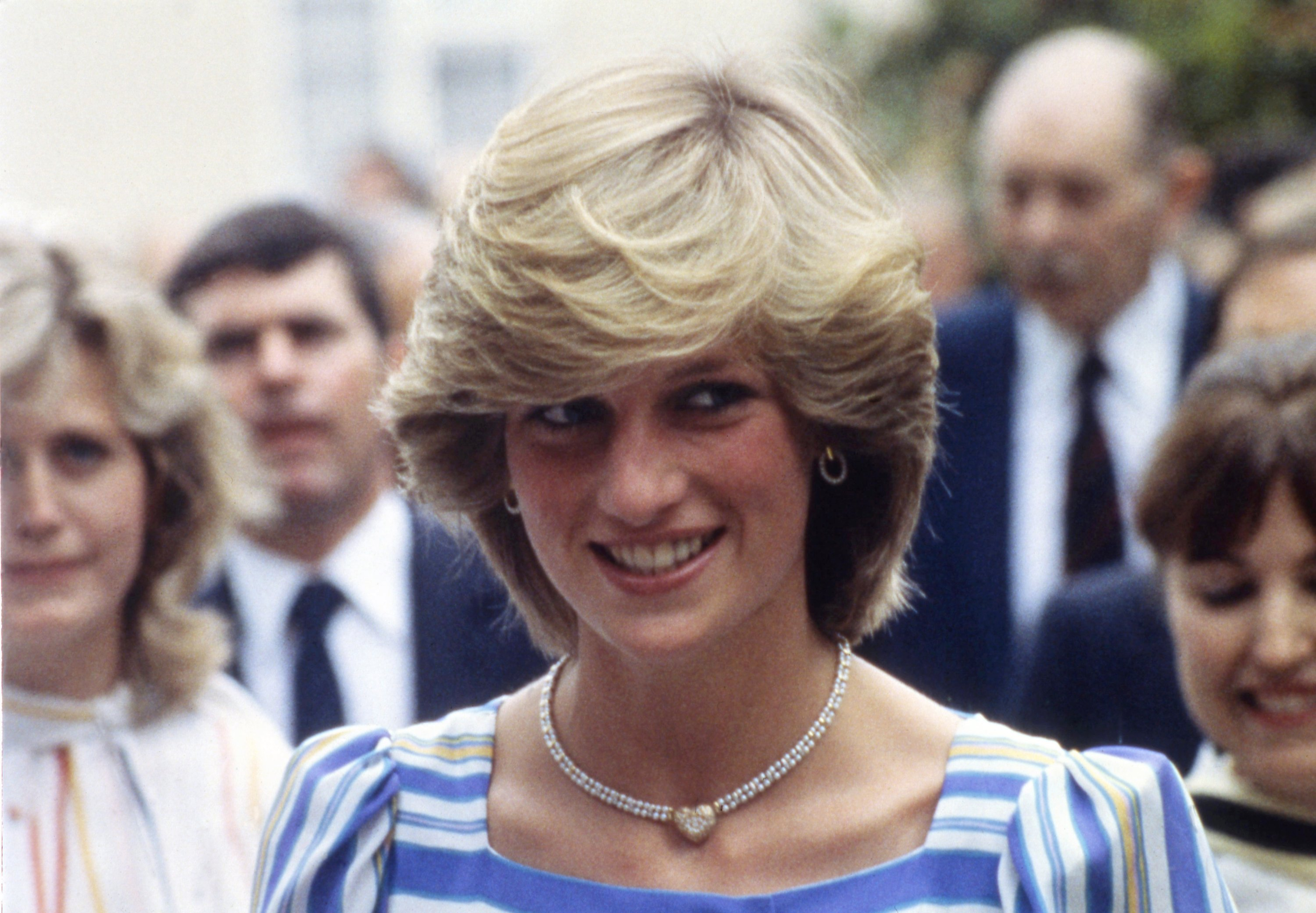 Princess Diana, the Princess of Wales, smiles during her visit to the Elmhurst Ballet School, in Camberley, Surrey, U.K., July 6, 1993. (AP Photo)