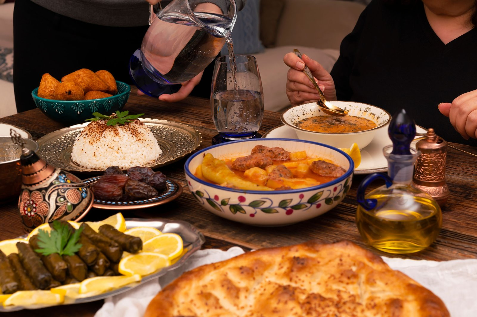 Table with Turkish dishes. (Shutterstock Photo)