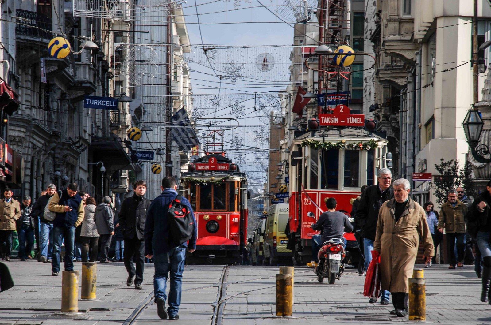 A photo of Istanbul's Beyoğlu by Aramis Kalay, Turkey.