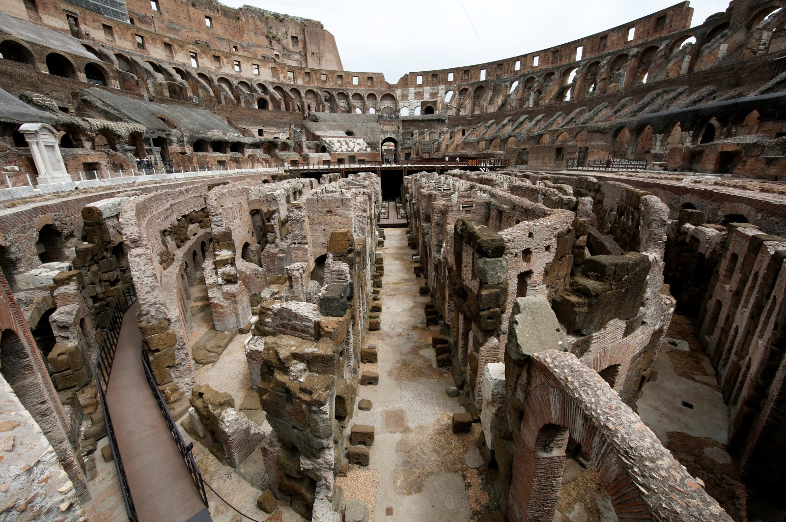 View of the Colosseum tunnels, which have been restored in a multimillion-euro project sponsored by fashion group Tod's in Rome, Italy, June 24, 2021. (REUTERS Photo)