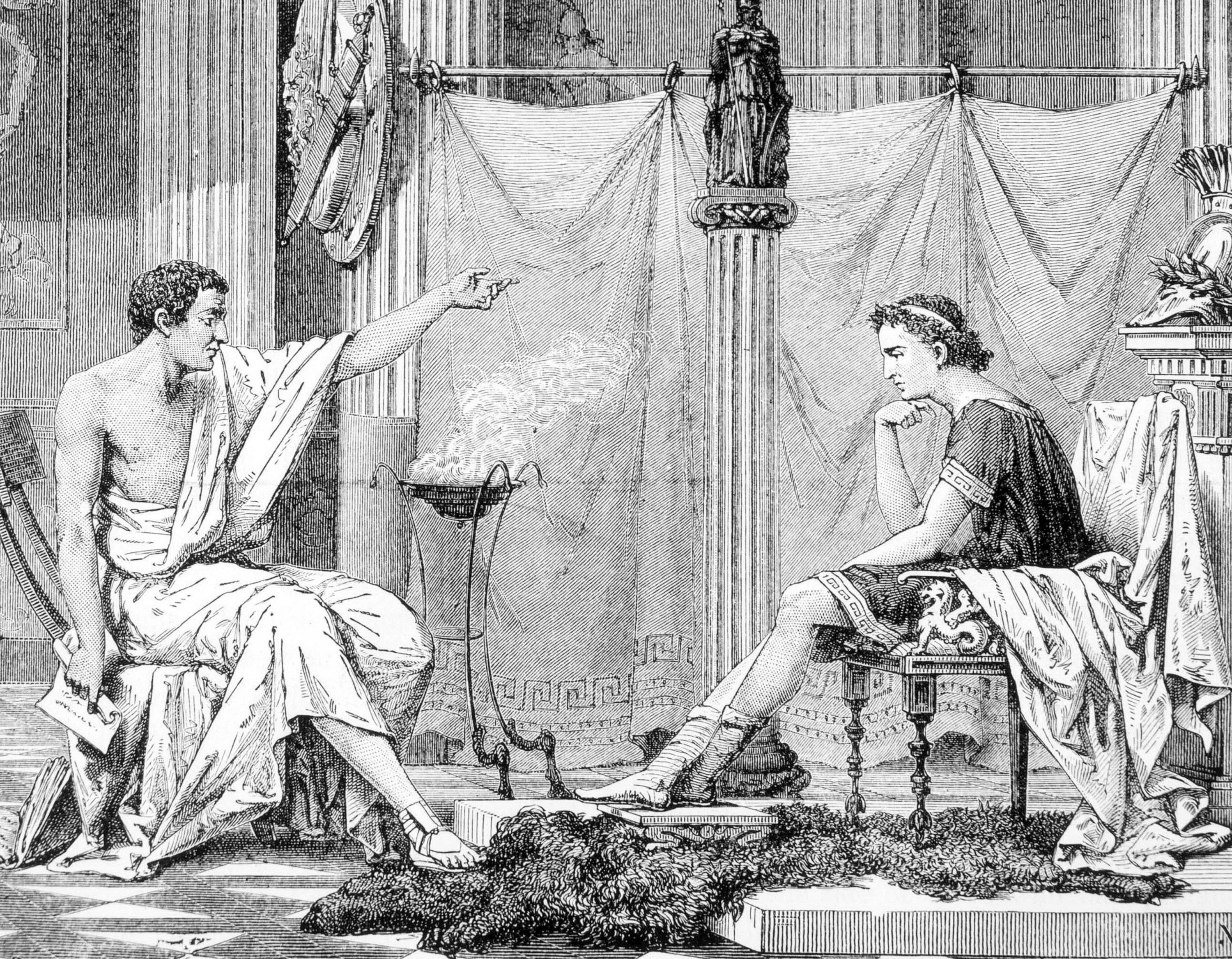 While Aristotle (L) dealt with ilm-i kıyafet, his disciple Alexander the Great benefitted from this science for selecting his commanders. (Shutterstock Photo)