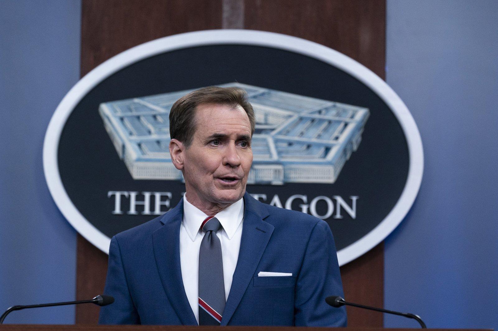 Pentagon Spokesperson John Kirby speaks during a media briefing at the Pentagon in Washington, United States, June 4, 2021. (AP Photo)