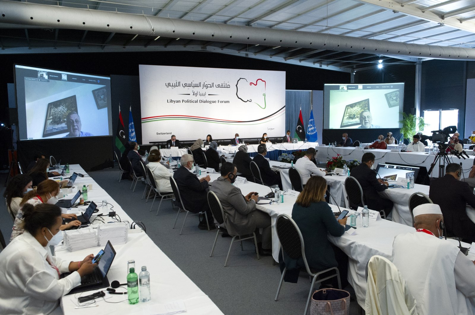 The Libyan Political Dialogue Forum gathers in Geneva to facilitate a path toward elections in December, Geneva, Switzerland, June 28, 2021 (AA Photo)