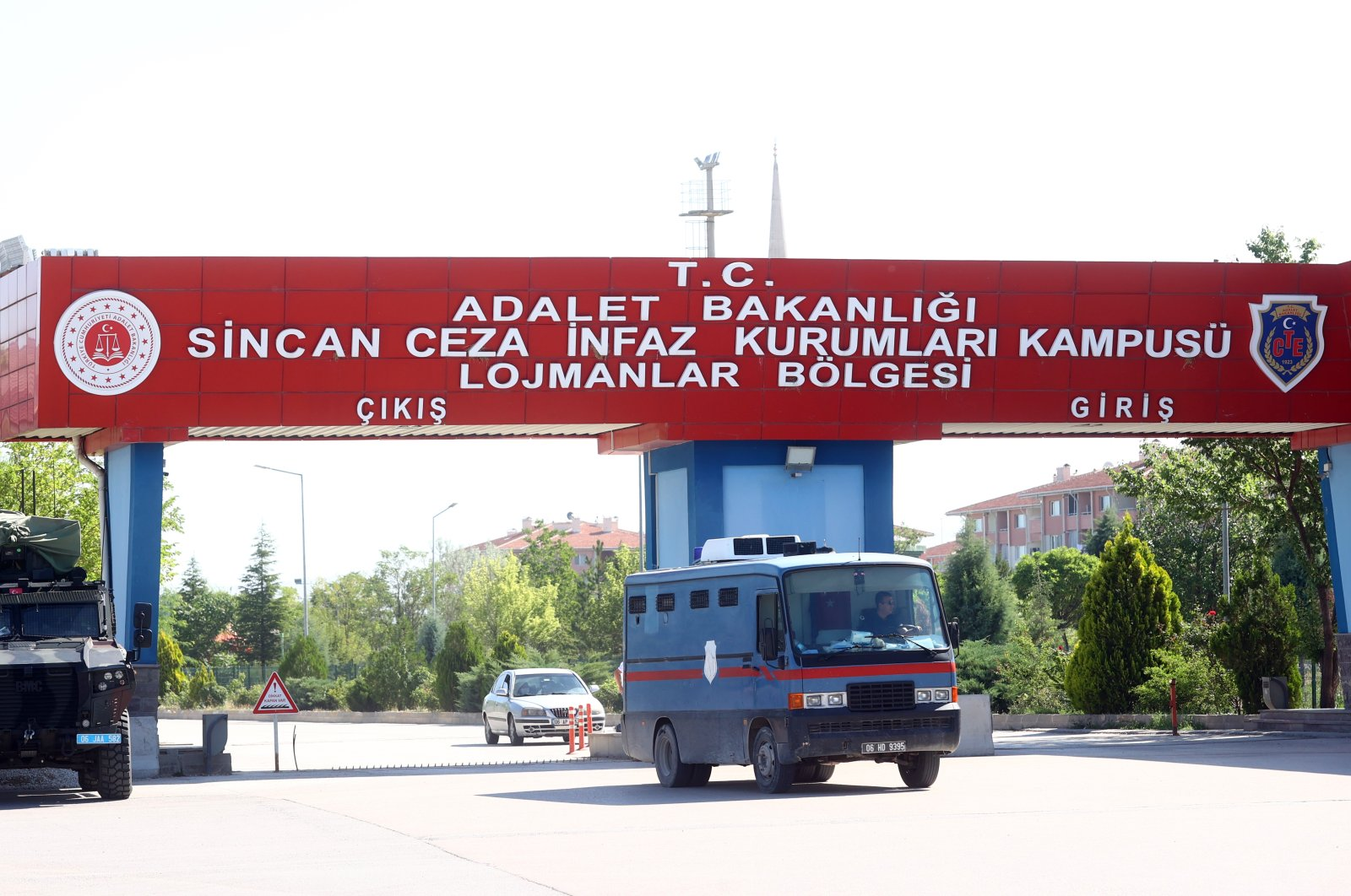 Entrance of a courthouse-prison complex in Sincan district where the trial was held, Ankara, Turkey, June 30, 2021. (AA PHOTO)
