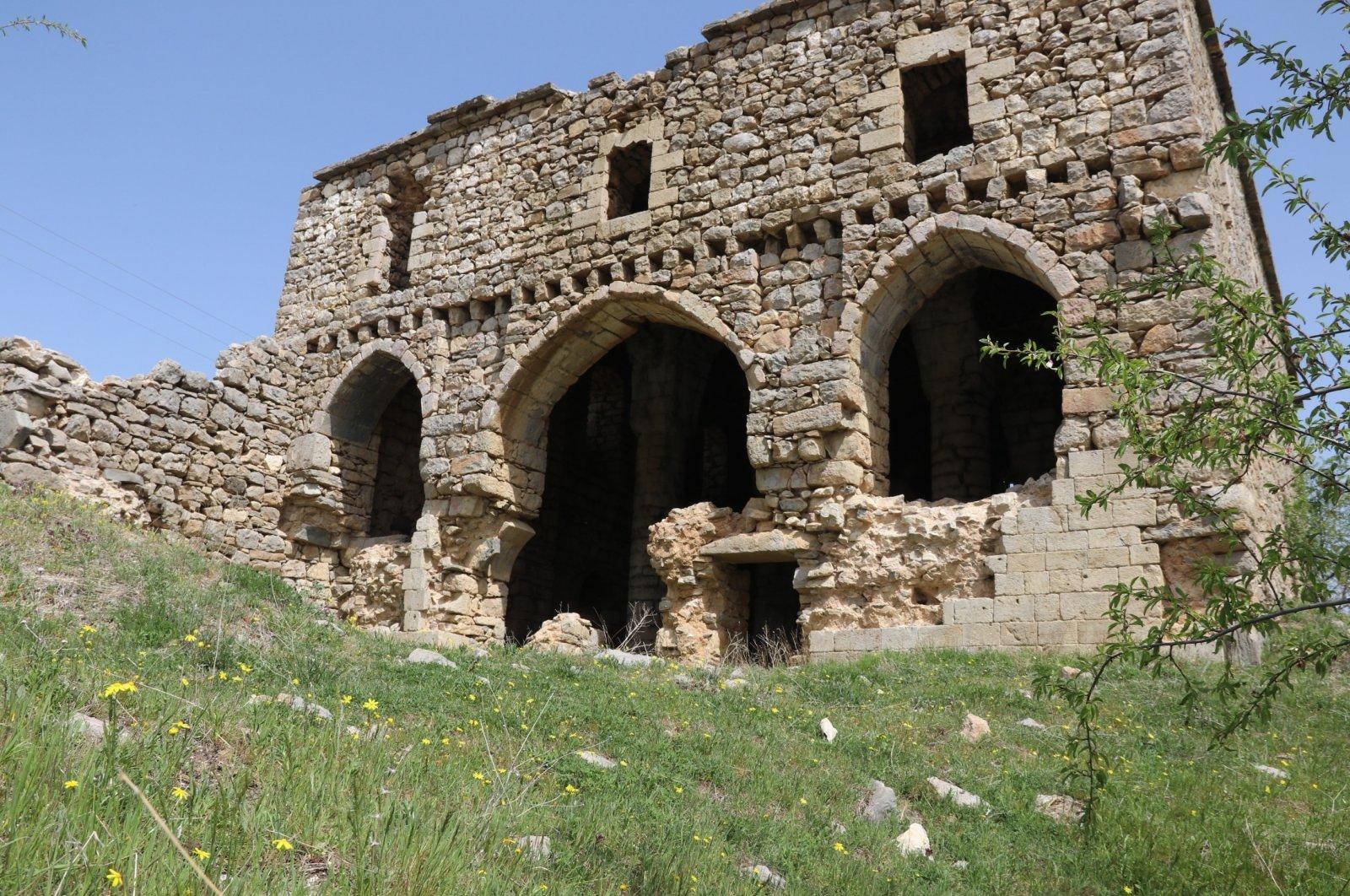 Sun shines upon the ruins of the Virgin Mary Monastery in Çüngüş district of Diyarbakır, Turkey, June 28, 2021. (AA Photo)