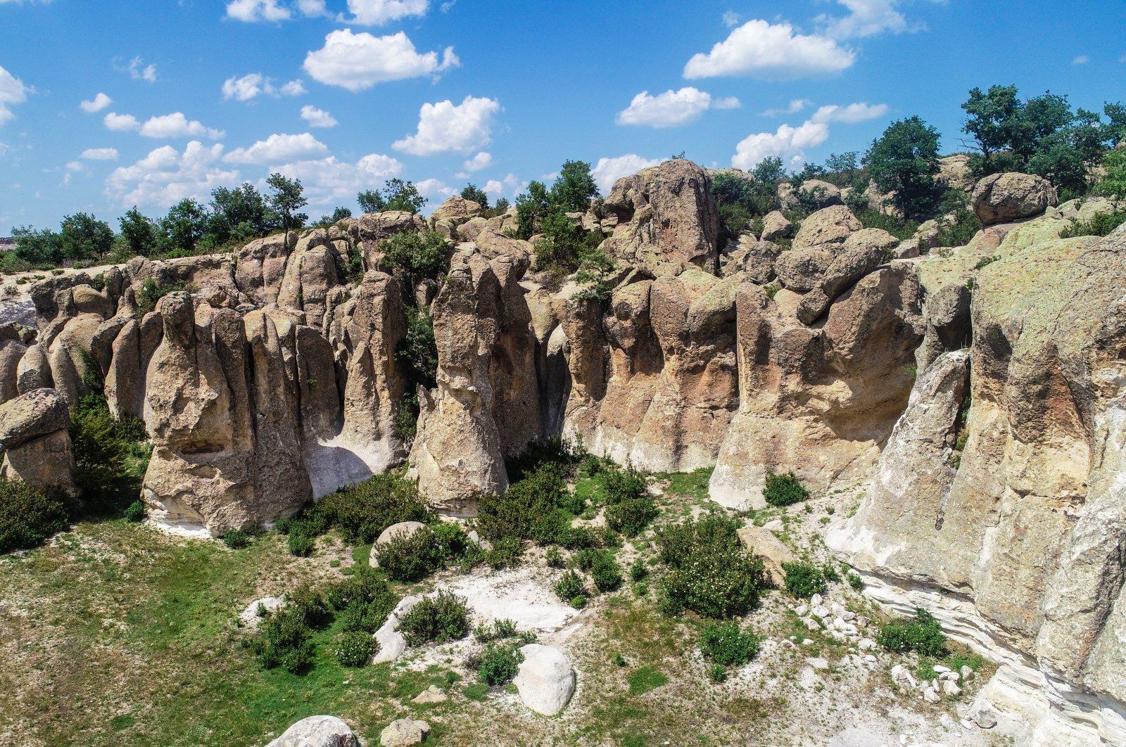 The hidden gem of Phrygia Üçlerkayası village becomes a tourist hub in western Turkey. (AA Photo)