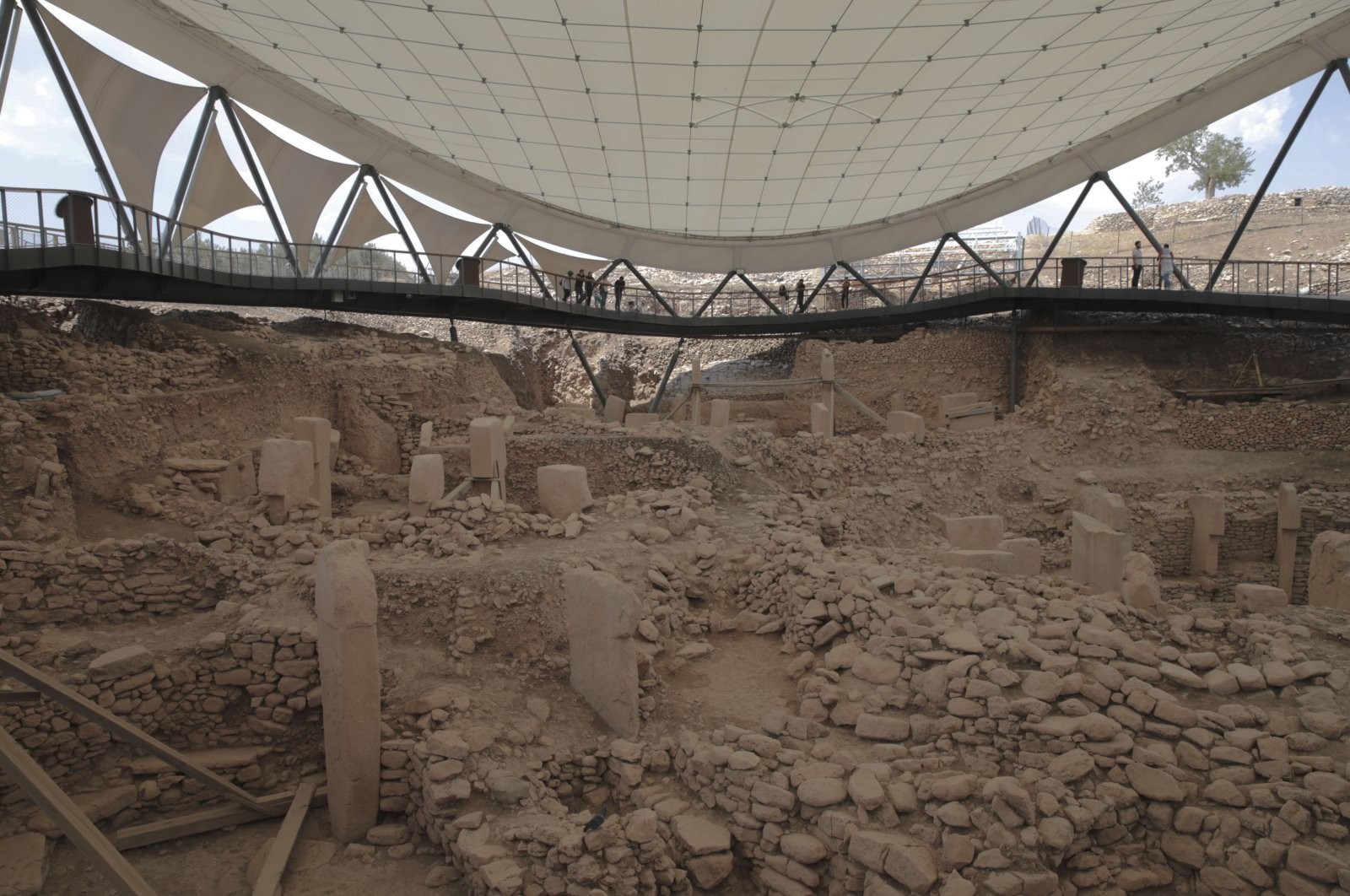 A view from the archaeological site of Göbeklitepe, Şanlıurfa, southeastern Turkey, June 30, 2021. (AA Photo)