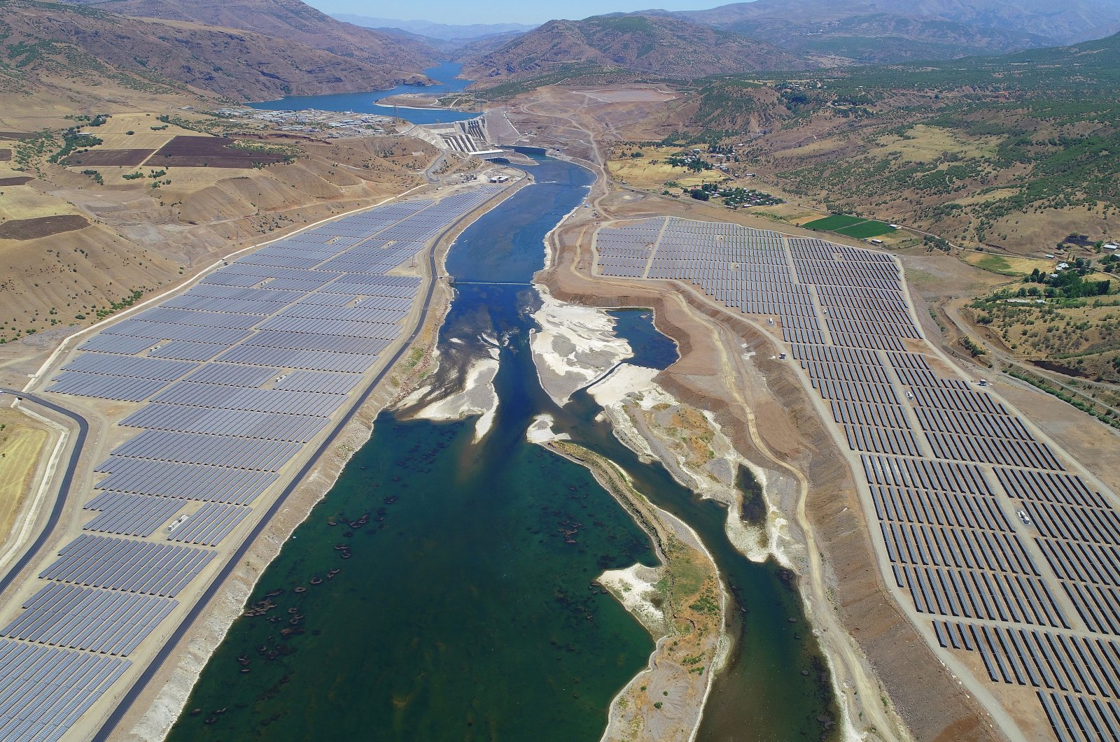 Solar panels are seen in the eastern province of Bingöl, Turkey, June 25, 2021. (AA Photo)