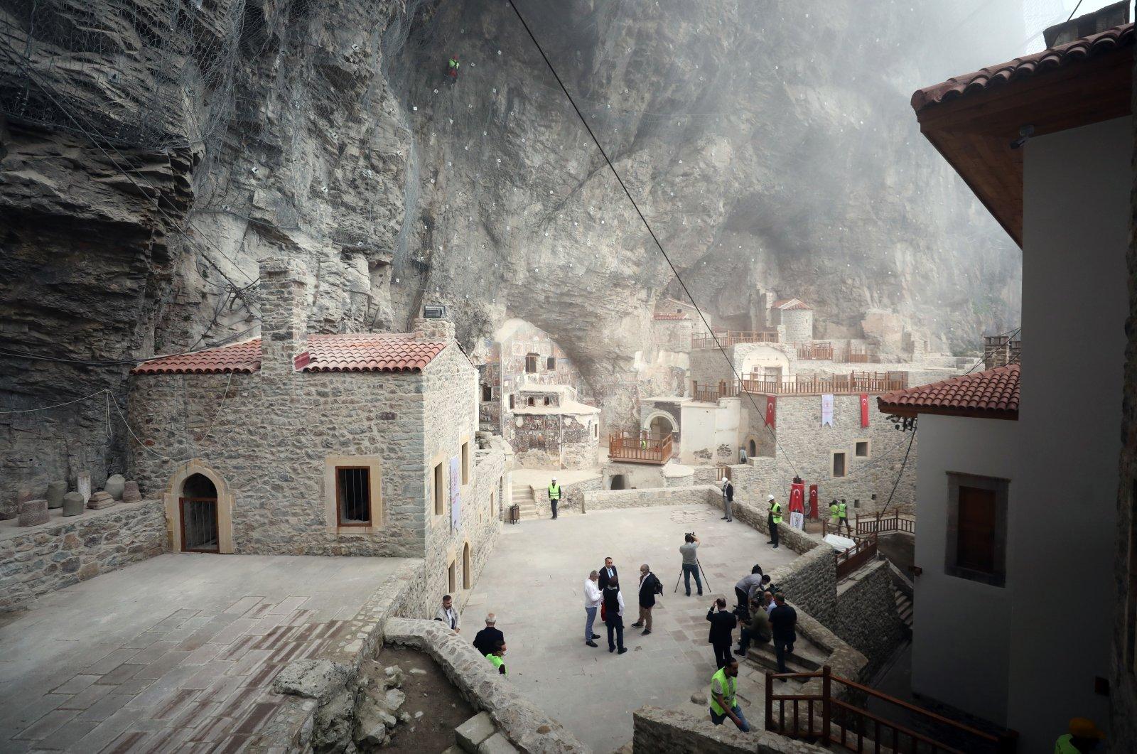 Sümela Monastery after restoration, Trabzon, Turkey, June 1, 2021 (AA Photo)