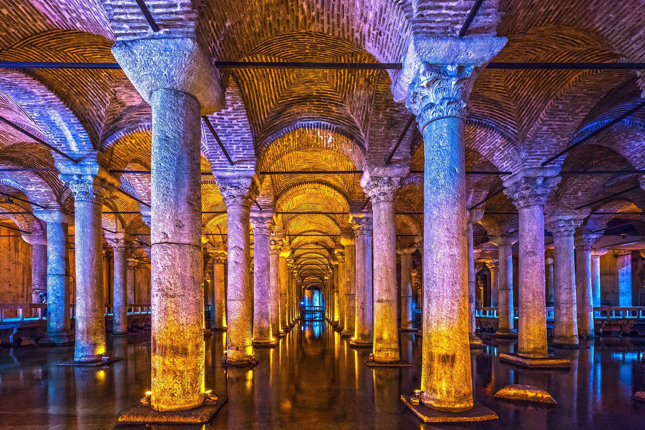The Basilica Cistern. (Shutterstock Photo)