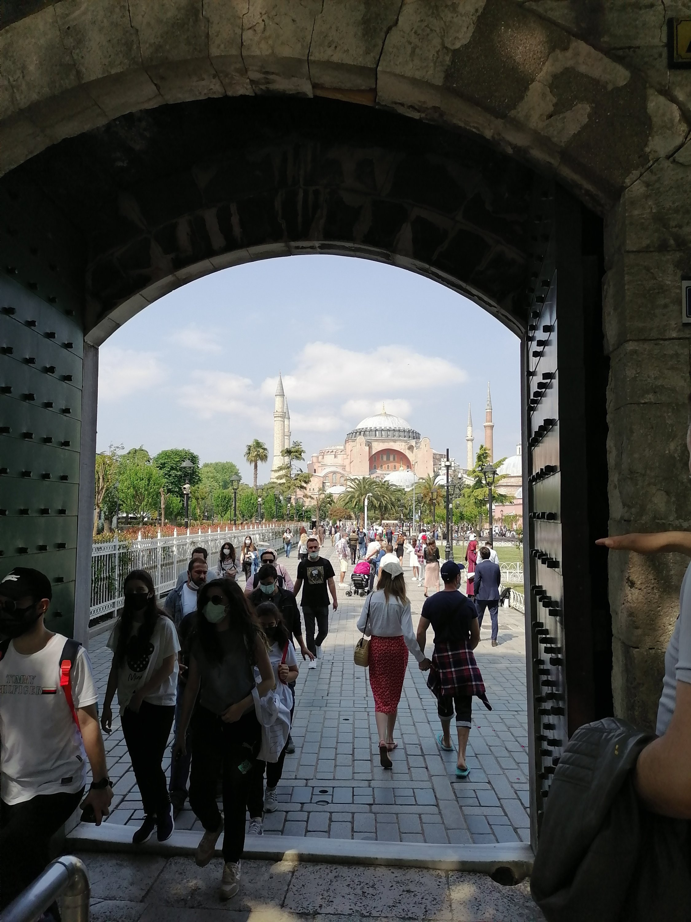 The first glimpse of Hagia Sophia Grand Mosque. (Aiza Azam for Daily Sabah)