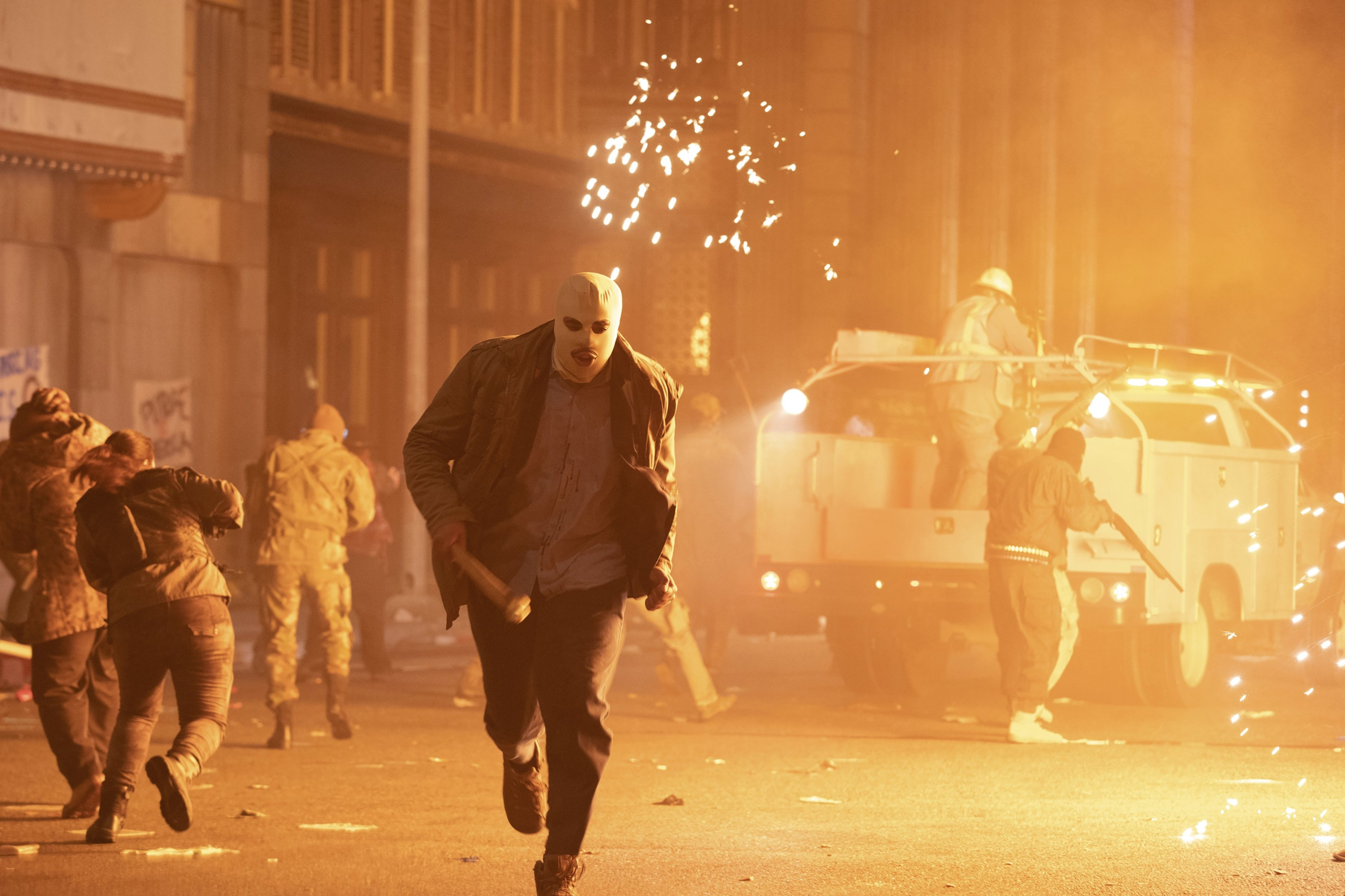 A scene from 'The Forever Purge,' directed by Everardo Valerio Gout. (Universal Pictures via AP)