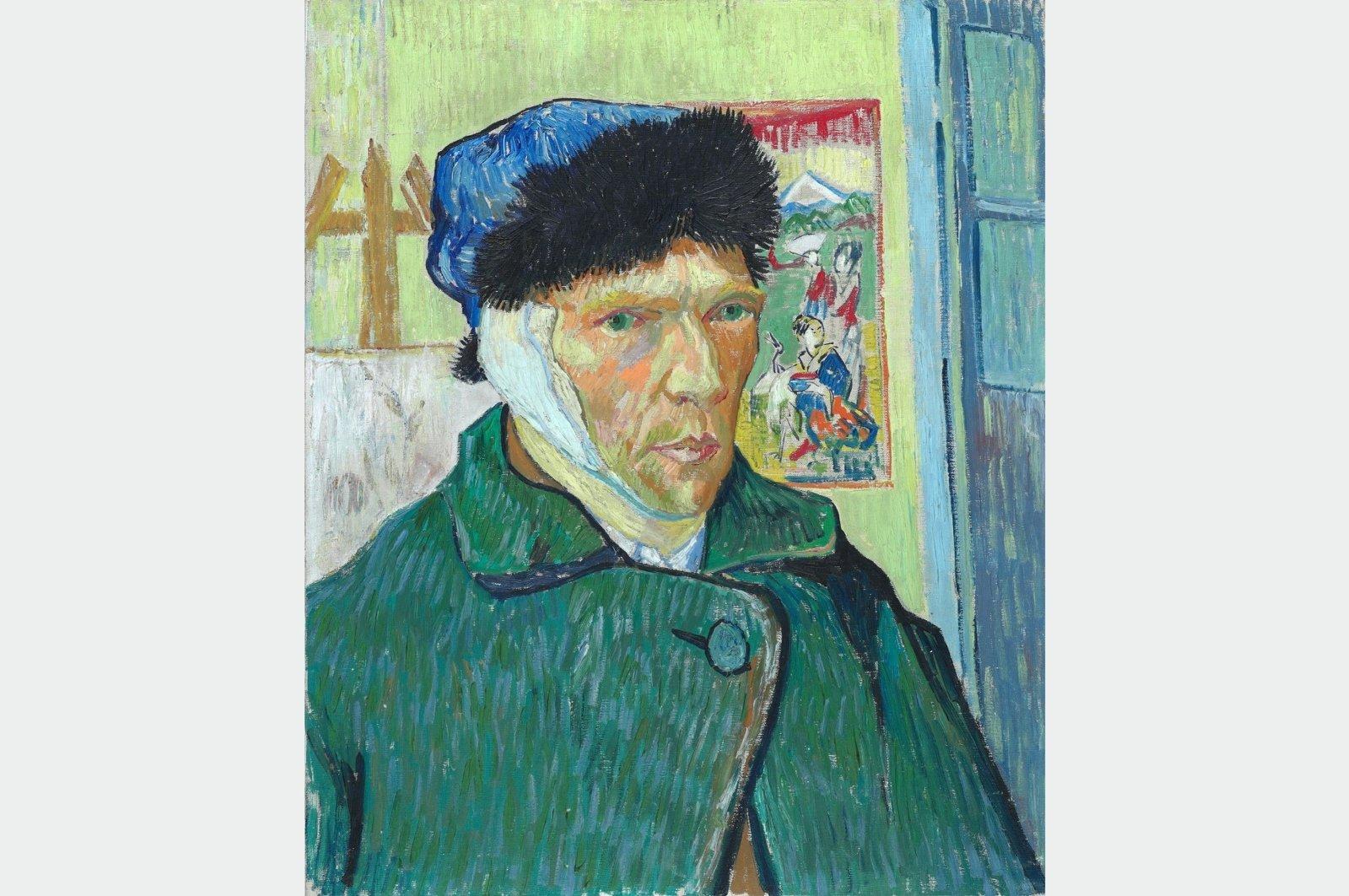 "Vincent van Gogh, ""Self-portrait with Bandaged Ear,"" 1889, obtained on June 30, 2021. (Reuters Photo)"