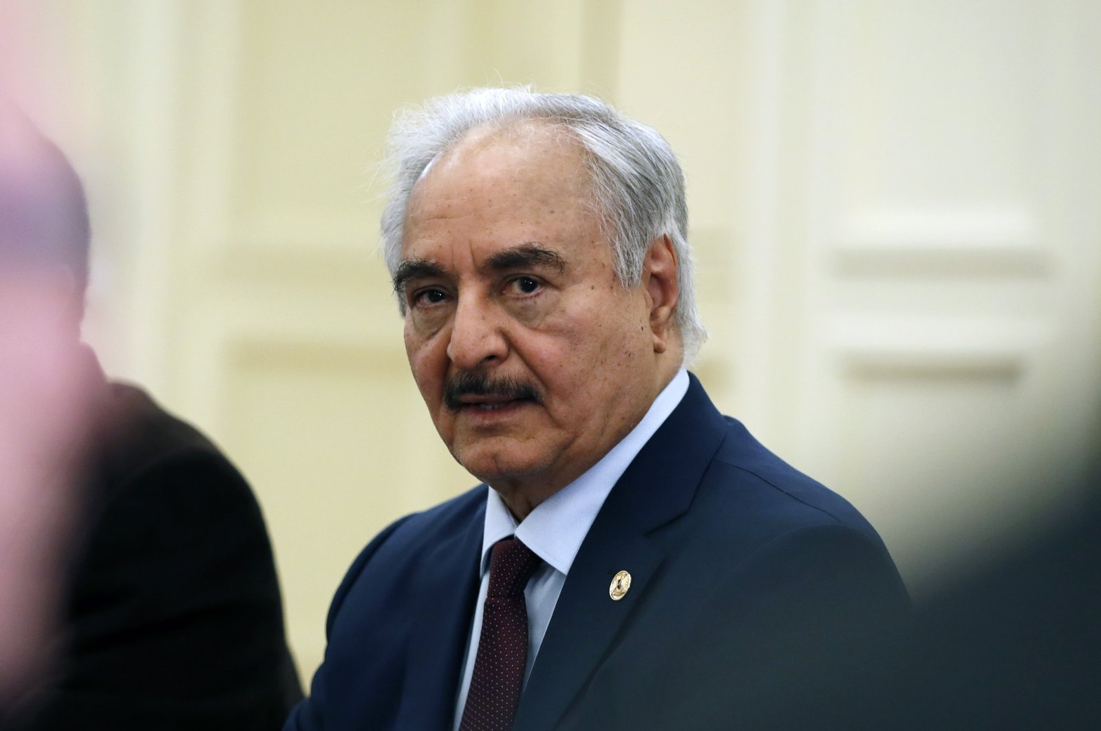 Libyan Gen. Khalifa Haftar joins a meeting with the Greek Foreign Minister Nikos Dendias in Athens, Greece, Jan. 17, 2020. (AP File Photo)