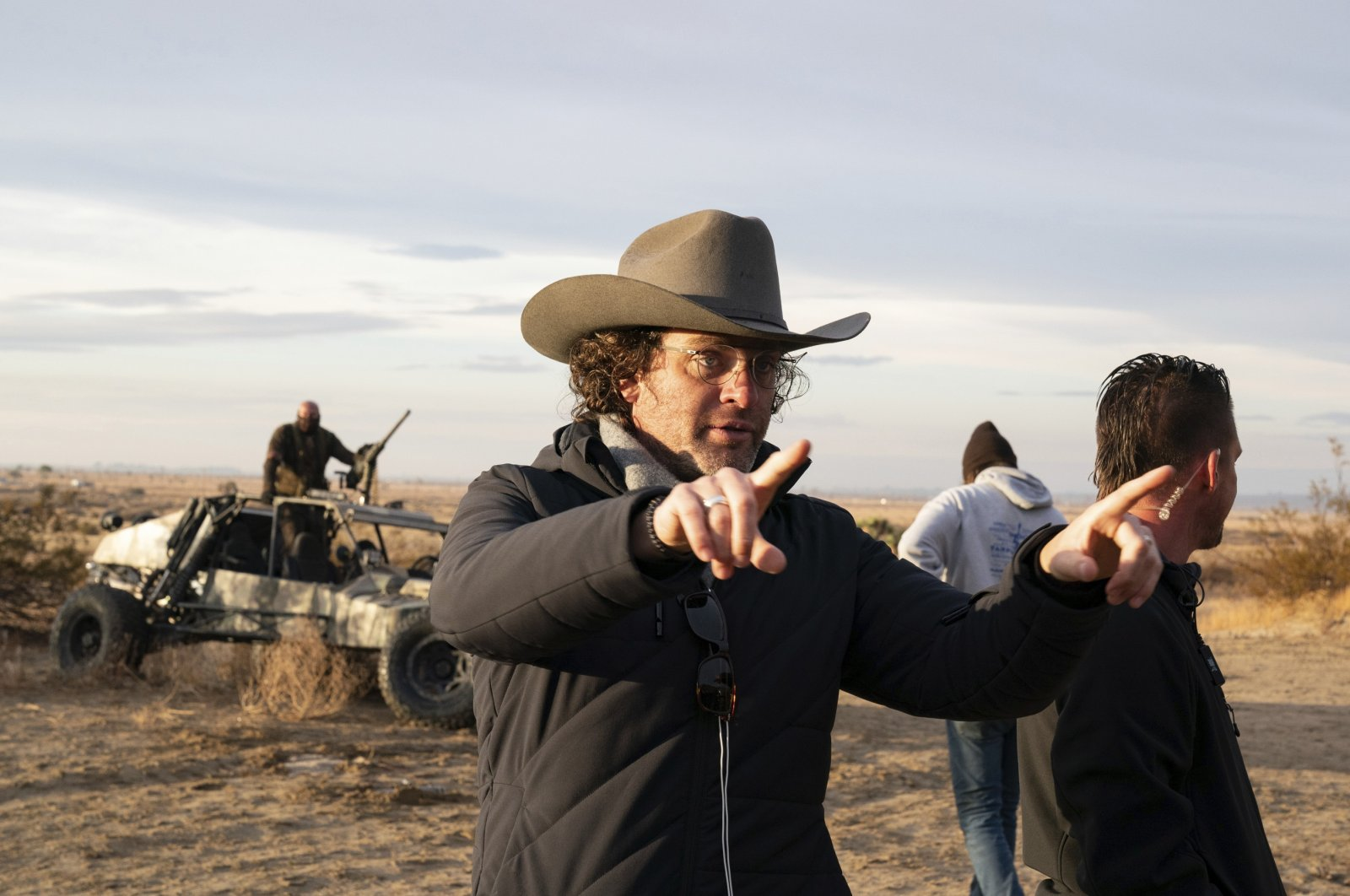 """Director Everardo Gout (C) gives instructions on the set of his film """"The Forever Purge."""" (Universal Pictures via AP)"""