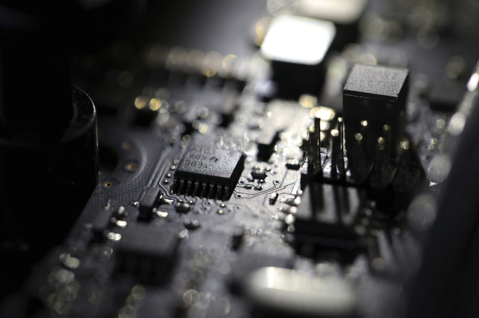 The inside of a computer seen in Jersey City, N.J., Feb 23, 2019. (AP Photo)