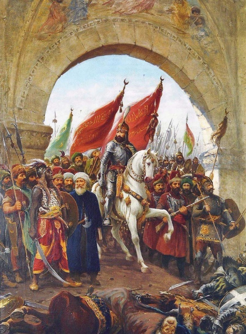 The entry of Sultan Mehmed II into Constantinople, painting by Fausto Zonaro.