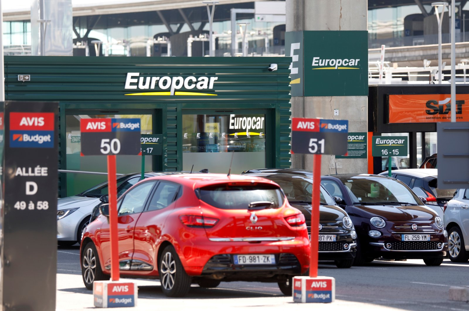Cars are seen at car rental companies Avis and Europcar outside Paris Charles de Gaulle airport in Roissy-en-France, France, May 19, 2020. (Reuters Photo)