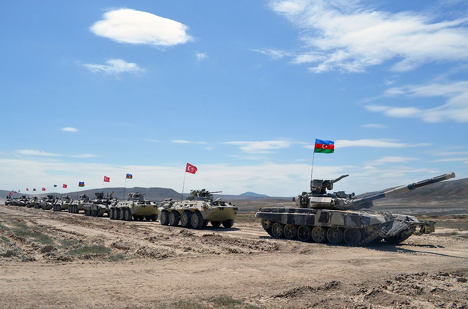 Turkish and Azerbaijani armed forces conducted a joint military drilll in Azerbaijan, July 3, 2021 (IHA Photo)