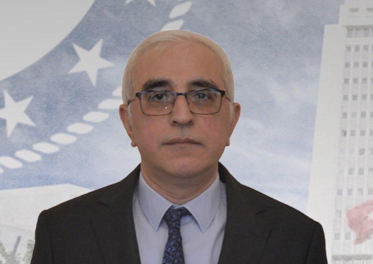 Mehmet Ferhan Yorulmaz, the late consul general of Turkey to St. Petersburg, is seen in this photo shared by FM Çavuşoğlu on July 6, 2021 (Photo taken from Twitter / MevlutCavusoglu)