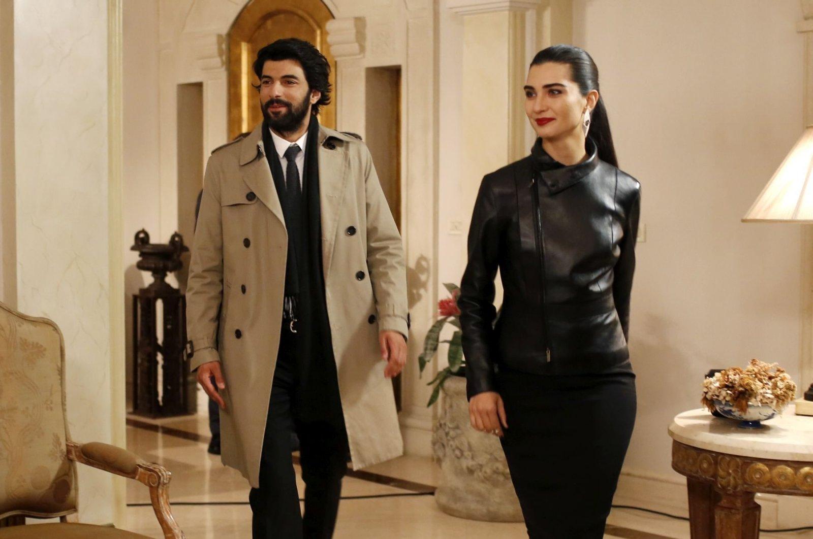 "A still shot from Turkish TV series ""Kara Para Aşk"" (""Black Money Love"")"