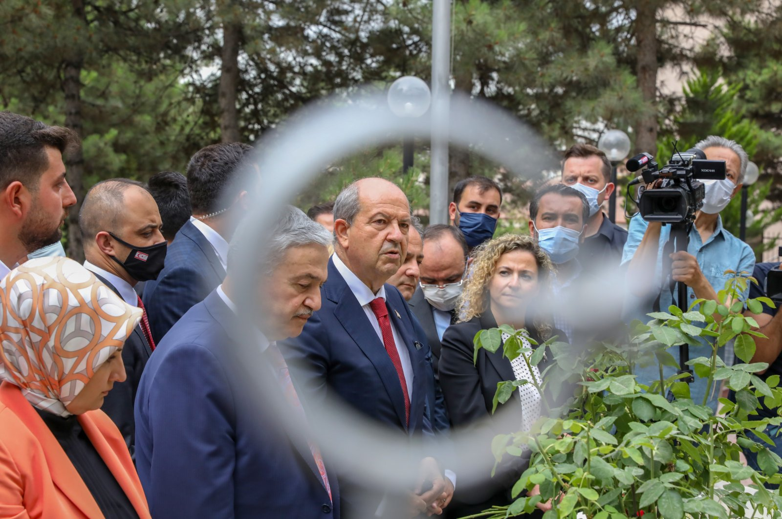 Turkish Republic of Northern Cyprus (TRNC) President Ersin Tatar is in Elazığ province to make an official visit and visit the tomb of martyrs killed by Greek Cypriot gangs in 1963, July 4, 2021 (AA Photo)