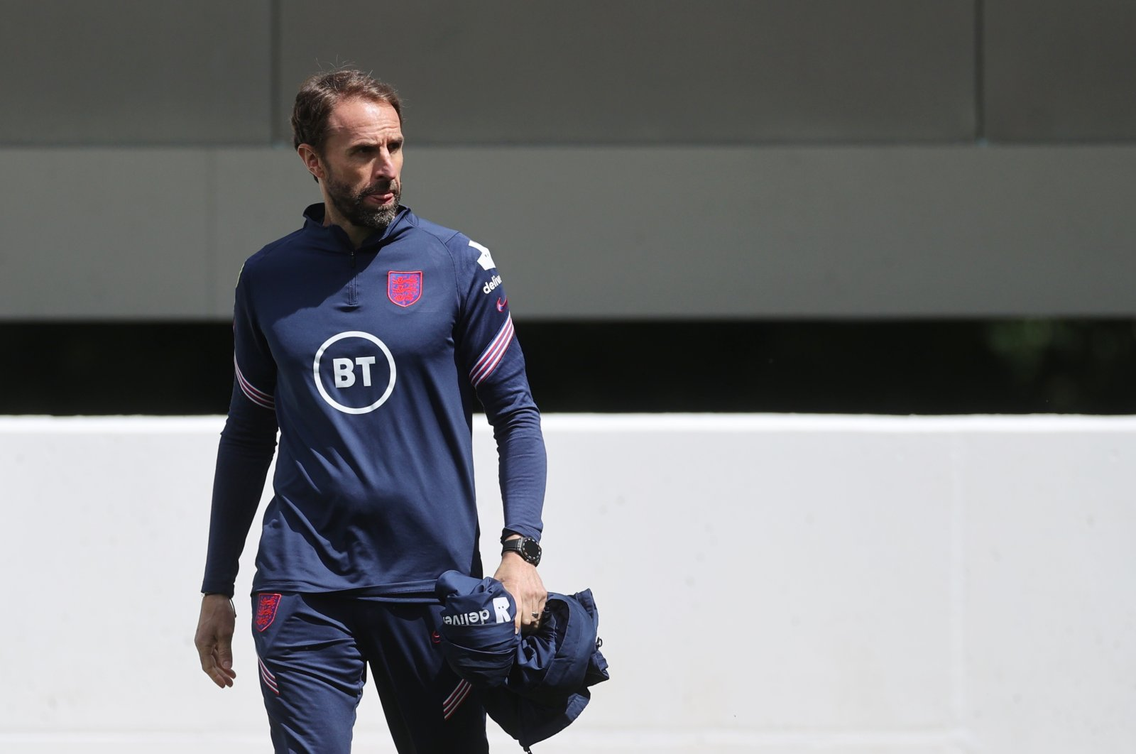 England manager Gareth Southgate during training, St. George's Park, Burton upon Trent, Britain, July 5, 2021. (Reuters Photo)