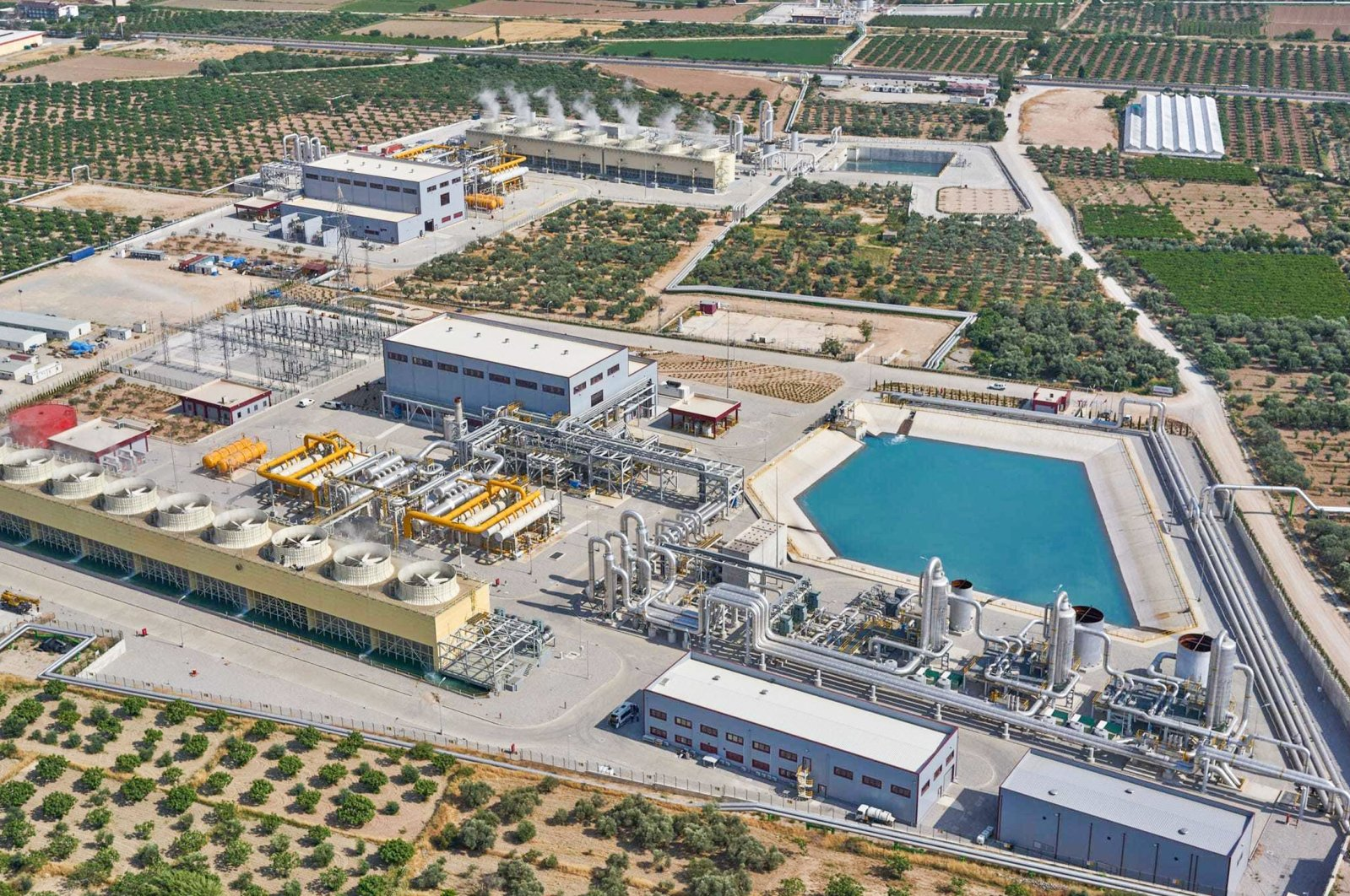 A geothermal power plant is seen in the central Aegean province of Denizli. (Courtesy of Zorlu Energy)