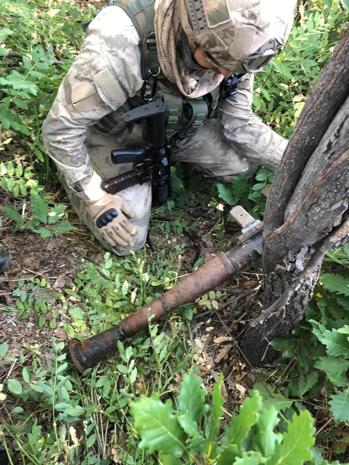 Turkish security forces seized ammunition belonging to the PKK terrorist group in eastern Tunceli province, Turkey, July 6, 2021. (AA Photo)