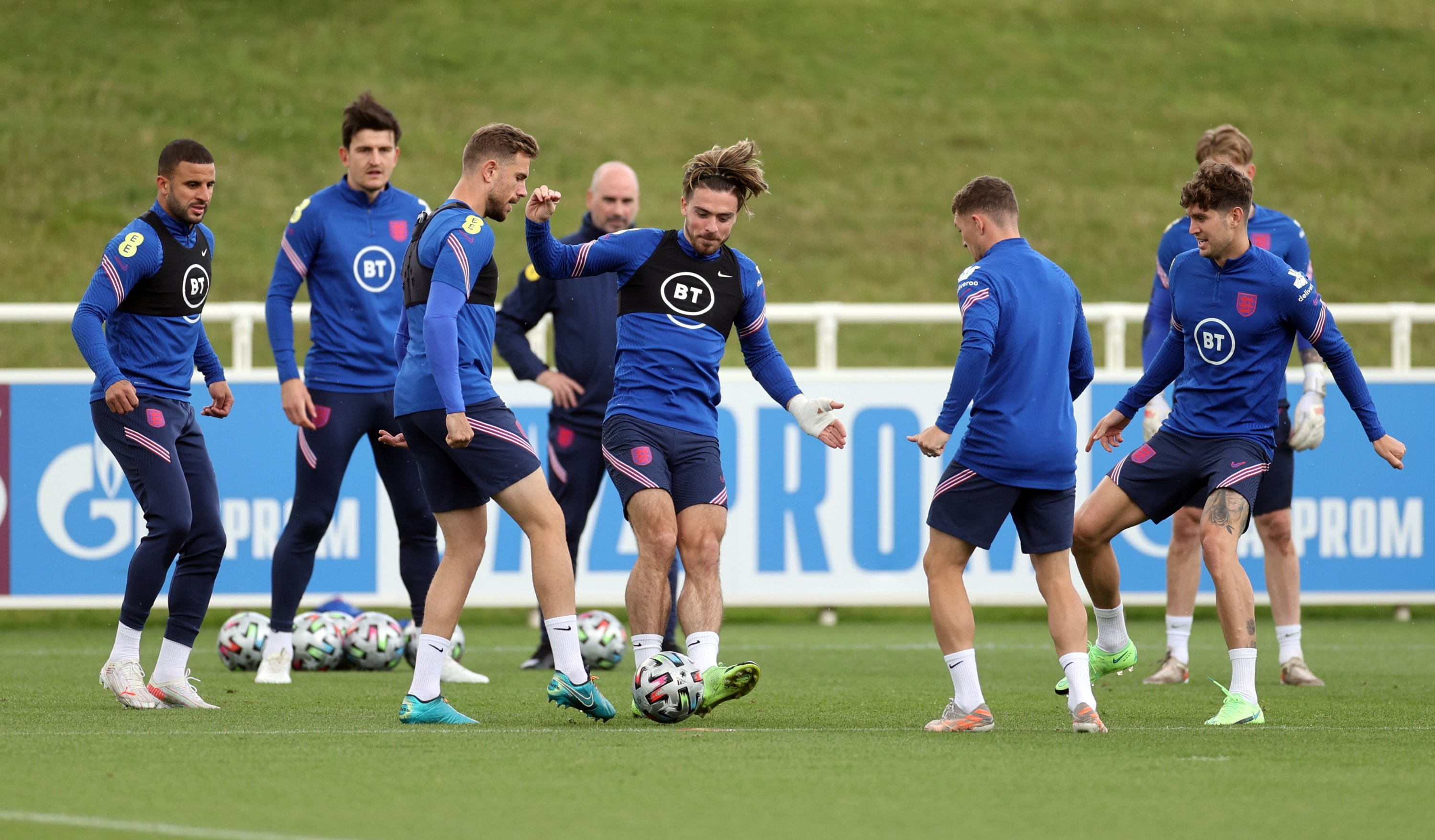 England's players attend a training session at St. George's Park, Burton upon Trent, England, July 5, 2021 (Reuters Photo)