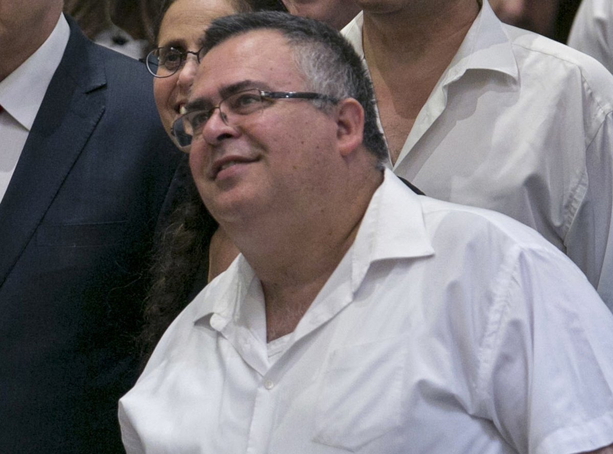 Lawmaker David Bitan after a Knesset session that passed a contentious bill, in Jerusalem, Israel, July 19, 2018.  (AP File Photo)