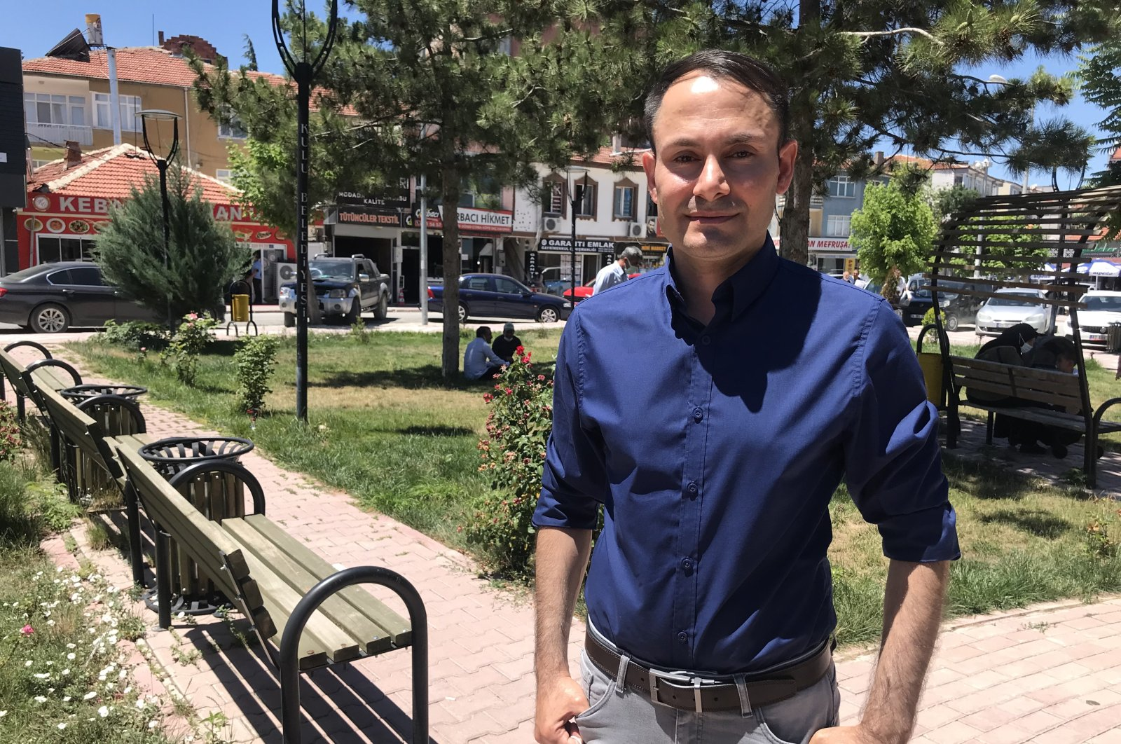 Turkish Swedish politician Mikail Yüksel poses for a photo in the Kulu district of Turkey's central Konya province, July 6, 2021. (AA Photo)
