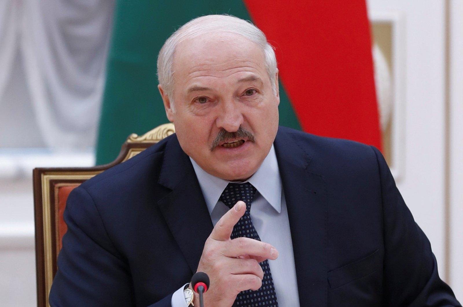 BelarusianPresidentAlexanderLukashenkospeaks at Commonwealth of Independent States (CIS) Heads ofGovernmentCouncil inMinsk, Belarus May 28, 2021. (Reuters Photo)