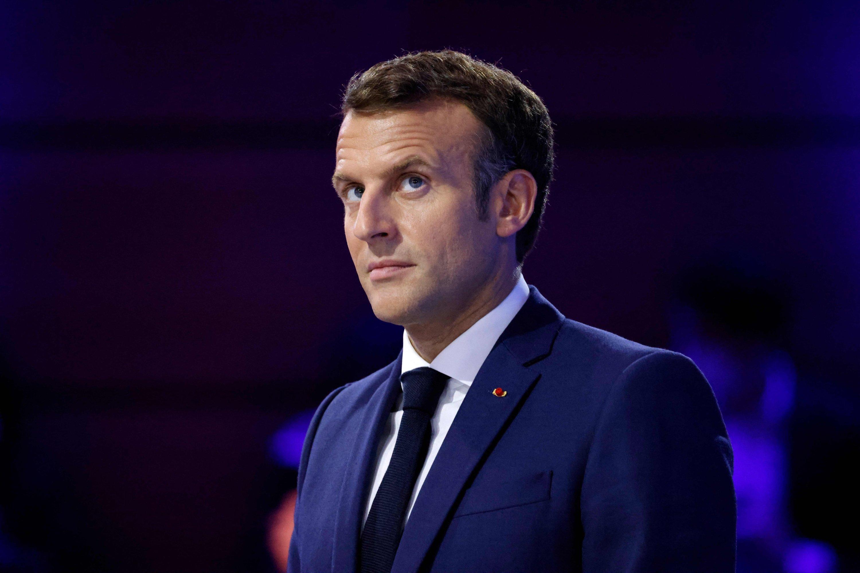 French President Emmanuel Macron at a forum, at the Carrousel du Louvre, Paris, France, June 30, 2021. (AFP Photo)