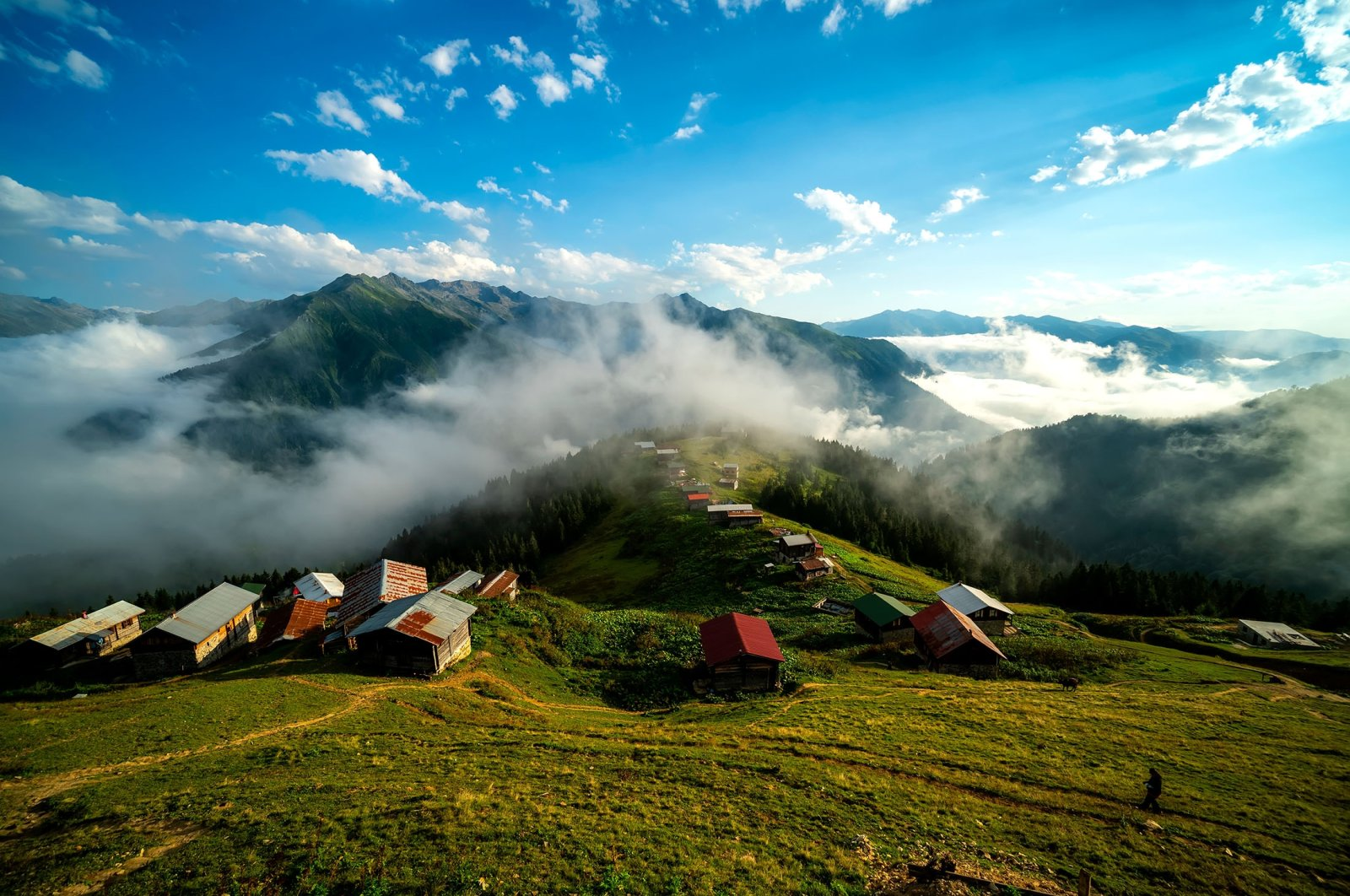 A general view of the Pokut Plateau in Turkey's Rize province. (Shutterstock Photo)